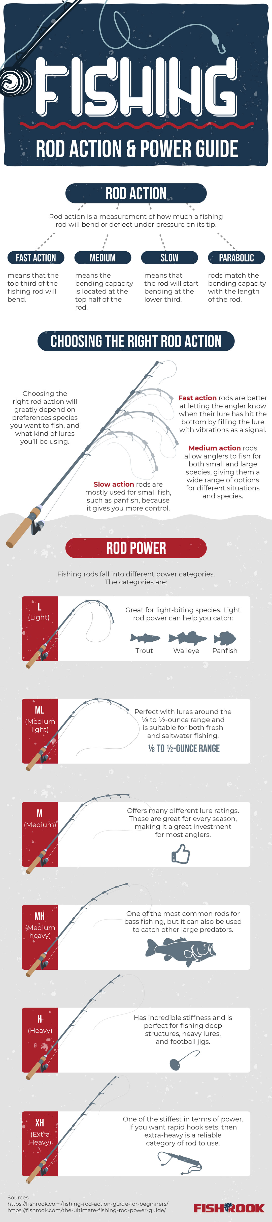 Fishing Rod Action vs Power Infographic